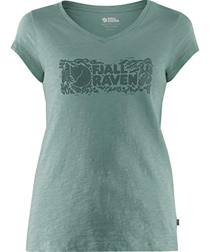 FJALLRAVEN Logo Stamp T-Shirt W - Damen S Salbeigrün