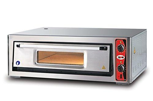 GMG Profi Pizzaofen CLASSIC PF 9262 E für Gastronomie, 1 Backkammer - 6 x Ø 30 cm Pizzen - 92x62x15cm, bis zu 450°C (Ober- und Unterhitze getrennt regelbar), 6000 Watt
