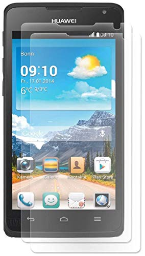 ENERGMiX Bildschirmfolie kompatibel mit Huawei Ascend Y530 Schutz Folie Folien (2 Stück) - Ultra Clear