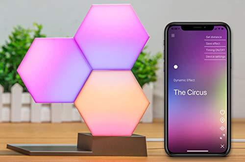 Cololight PRO Starter Set, RGB LED Baustein-System, kompatibel mit Alexa, Google Home, App-Steuerung, 16 Mio. Farben und Effekte, ideale Deko- und Gamingbeleuchtung, 3 LED-Module