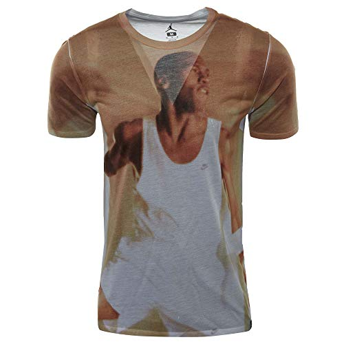 NIKE Air Jordan Sportswear MJ Photo Allover Print, Camiseta de Hombre