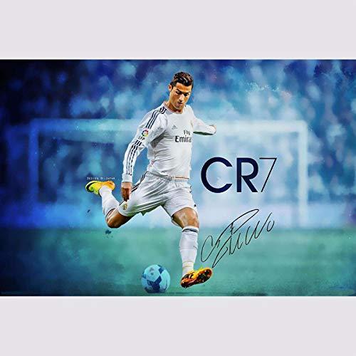 Deportes Cristiano Ronaldo pintura sobre lienzo para decorar la habitación, DIY bordado de diamantes cuadrados completos, pintura de diamantes, mosaico de diamantes