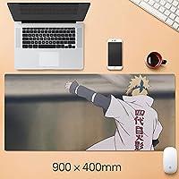 NARUTO大型マウスパッドの折りたたみ式マウスパッドファッションゲーミングマウスパッドコンピュータのラップトップデスクトップラップトップキーボードコンソール(15.75 x 35.45インチ)-A4_300 * 700 * 3mm