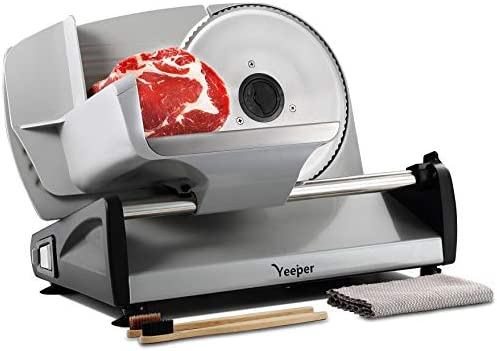 Yeeper Electric Meat Slicer for Home Use with CHILD LOCK CLEAN KITS REINFORCED PUSHER 7 5 Deli product image