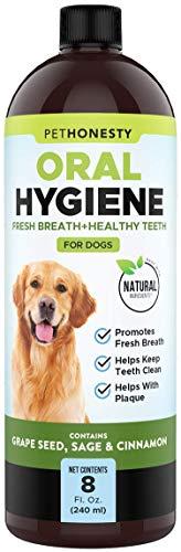 PetHonesty Oral Hygiene Natural Dental Water Additive | Natural Ingredient Dog Mouthwash + Teeth Cleaning | Keeps Teeth + Gums Clean | Freshens Breath + Targets Plaque + Tartar