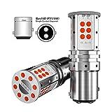 2PCS Bombilla de bay15d 1157 p21/5w canbus rojo led para luces de estacionamiento, luz de freno, luces traseras 12V 24V red