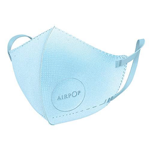 AIRPOP Kids Wiederverwendbare waschbare Gesichtsmaske 4 Pk, 4-lagige Gesichtsabdeckung, konturierte Passform, leichtes Design, Gesichtsmasken für Kinder für mehrmaliges Tragen, 4 Pk Blau