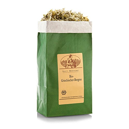 Sanct Bernhard Bio Griechischer Bergtee aus den Blättern, Blüten und Stängeln des griechischen Eisenkrautes (Sideritis scardica), Inhalt 100 g