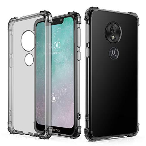 J&D Compatible para Motorola Moto G7 Play Funda, [Cojín de Esquina] [Ligero] [Ultra-Clear] Protector de Silicona Delgado y Resistente a Los Golpes Funda - [No para Moto G7/G7 Plus/G7 Power/G7 Supra]