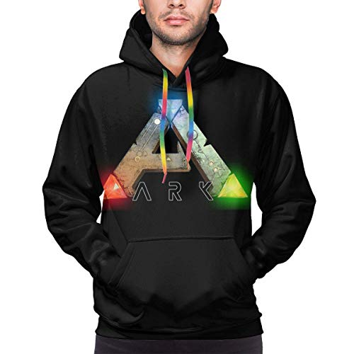 Rogerds Kapuzenpullover Mens ARK-Survival-Evolved Logo Winter Hoodie Sweatershirt Langarm-Pullover Hoodies for Men Clothes