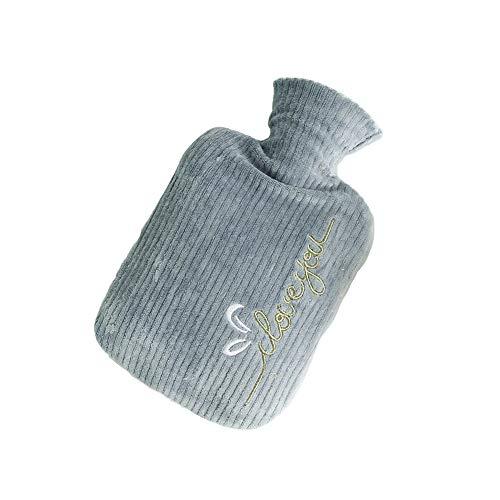 Meigold 1 bouillotte caricature en peluche - Injection d'eau - 800 ml - Avec housse - Chauffe-mains - Cadeau d'hiver