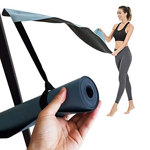 XKMY Esterilla de yoga Pro de goma natural de poliuretano de 1,5 mm antideslizante de color puro para yoga, mantas delgadas, gimnasio, fitness, perder peso (color: negro)