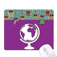 地球世界 ゲーム用スライドゴムのマウスパッドクリスマス
