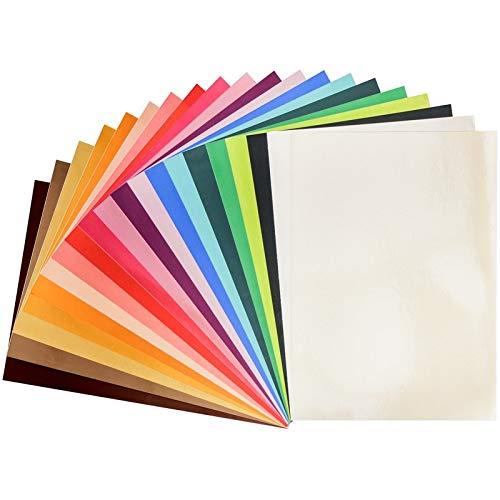 Ideen mit Herz Spiegel-Karton   Metallpapier   Bastelpapier metallic   20 Bogen   Din A4 (bunt   180g/qm)