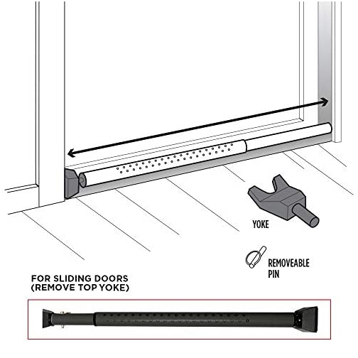 Guard Dog Security Door Jammer 2-in-1 Adjustable Door Knob Jammer & Sliding Patio Door Security Bar – 40 Different adjustments (1, Black) 5