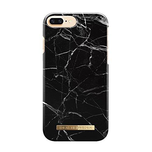 iDeal of Sweden iPhone 8 Plus / 7 Plus / 6 Plus / 6s Plus (Mikrofaserfutter, Qi Wireless Charger kompatibel), schwarzer Marmor