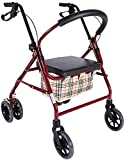 Rollator Walker Movilidad Ayuda para caminar para adultos Ancianos Carrito de la Compras Plegable, Ajustable Altura, Herramientas de Compras de Viajes para Ancianos (Color : Default)
