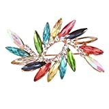 Bigsweety Style Vintage Mixte Couleur Cristal Strass Broche Or Bridal Wedding Broche Bouquet DIY Kit