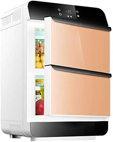 28L Cooler & Warmer Small Fridge Portable AC/DC Mini Refrigerator for Car and Home, Thermoelectric Compact Fridge for Skincare & Cosmetics,White