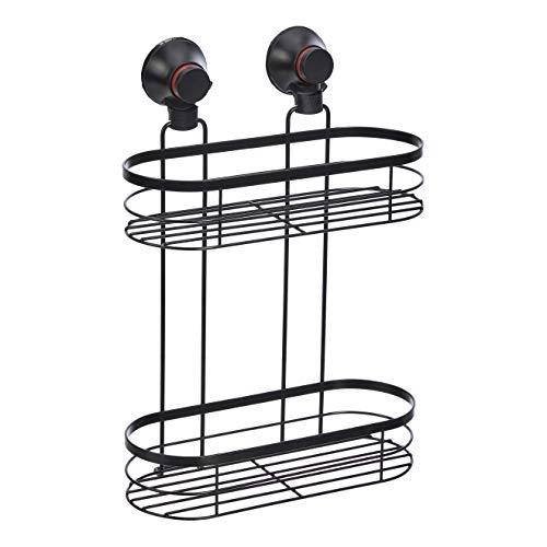 AmazonBasics - Estantería para ducha, con ventosa