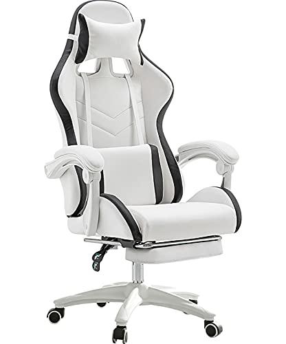 GPAIHOMRY Sillas ergonómicas de videojuegos, silla ajustable para videojuegos, silla de ordenador de carreras de PC grande y alto para adultos