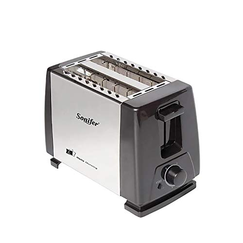 Tostadora De 2 rebanadas de acero inoxidable Tostadora automática de calefacción rápida de pan tostadora Hogar para el hogar Fabricante (Color : 6007)