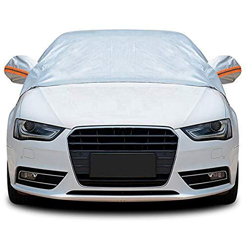 Tofern Halbe Größe Wasserdichtes Autoabdeckung Top Winter Sommer Autoabdeckung (Limousine, L)