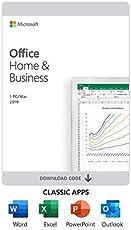 Microsoft Office Home and Business 2019 | 1 Device, Windows 10 PC/Mac Key Card