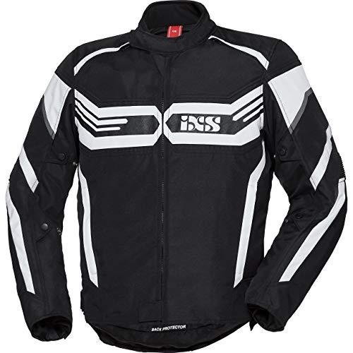 IXS Motorradjacke mit Protektoren Motorrad Jacke X-Sport Jacke RS-400-ST schwarz/weiß 3XL, Herren, Sportler, Ganzjährig, Polyester