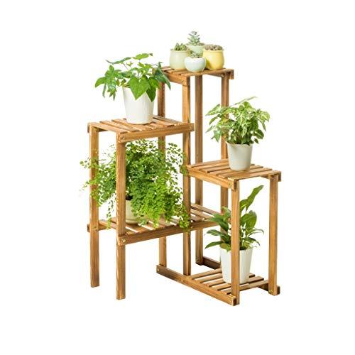 Andre Hasay Holz stehend Pflanzenregal Blumentreppen Blumenregale für Blumentöpfe Halter Gartenregal Eckregal Garten Dekorative Rack Balkon-A