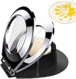 Egg Slicer, BIBURY Egg Cutter Heavy Duty Slicer for Strawberry Fruit Garnish Slicer, Stainless Steel Wire with 3 Slicing Styles