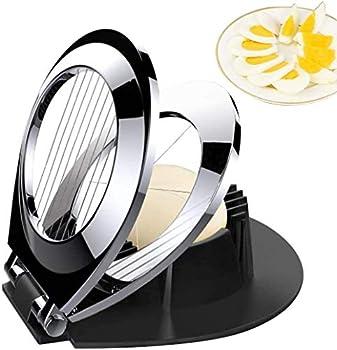 Egg Slicer BIBURY Egg Cutter Heavy Duty Slicer for Strawberry Fruit Garnish Slicer Stainless Steel Wire with 3 Slicing Styles