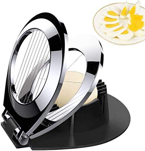BIBURY Eierschneider aus Edelstahl, Eischneidewerkzeug, 2 in 1 Eierschneider Metall aus 304 Edelstahl (spülmaschinenfest)