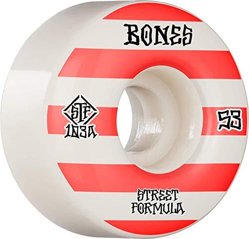 Bones Wheels Skateboardrollen STF Patterns V4 Wide 83B (White) 52mm
