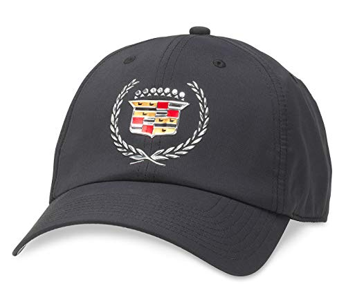 AMERICAN NEEDLE GM Cadillac Pace Slouch Curved Brim Adjustable Hat Black