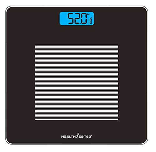 HealthSense (India) Dura-Glass PS 115 Digital Personal Body Weighing Scale, Best Electronic...