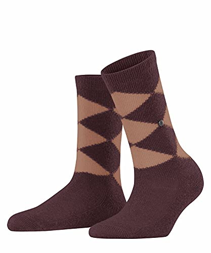 Burlington Damen Soft Argyle W SO Socken, Rot (Bordeaux 8100), 36-41 (UK 3.5-7 Ι US 6-9.5)