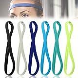 Anti-Rutsch Haarband Kopfband, Sport Stirnbänder, elastische Haarbänder, rutschfeste Stirnbänder für Damen und Herren, Mini Headbands Sport Thin Stirnbänder Passend für Jede Kopfform