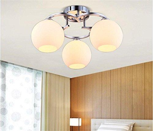 WWW Led-koplamp voor woonkamer, slaapkamer, eenvoudig, warm, creatief, voor thuis, veranda, hal, plafond, restaurant, kroonluchter van metaal, behuizing van glas, lampenkap, plafondlamp