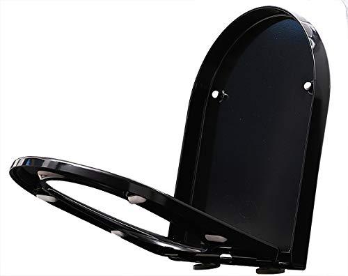 WC-Sitz Softclose U1002 schwarz - passend für BERNSTEIN WCs (CH1088/1088R/NT2019/NT2039/B-8030)