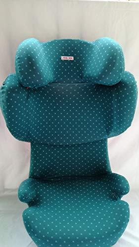 MOON-BEBE BEZUG FUR CYBEX Silver Kinder-Autositz Cybex Solution Q2 Fix green ( blu stars )