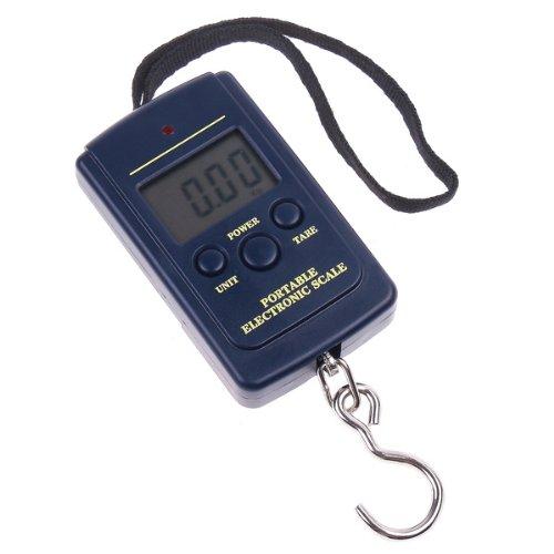 Báscula gancho digital equipaje/fruteria,Roeam Balanza electronica maleta bolsillo portatil Escala mini precision con gancho para colgar,40KG