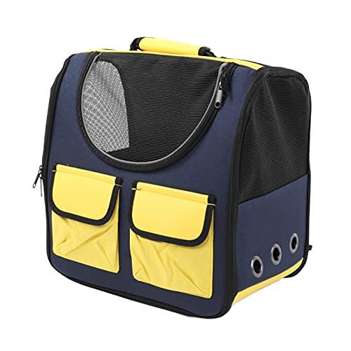 Yivibe Mochila Ventilada del Portador del Perro del Diseño, Mochila Conveniente Transpirable del Portador del Animal Doméstico para Viajar para IR De Excursión