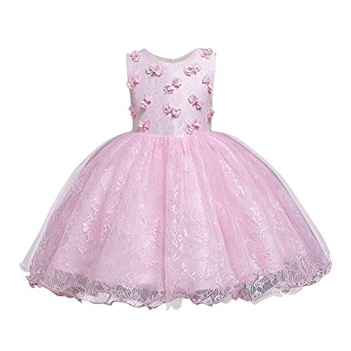 HUAANIUE Niños Princesa Vestido Brillante Fiesta Bebé Niña Fiesta de Bodas Tamaño...