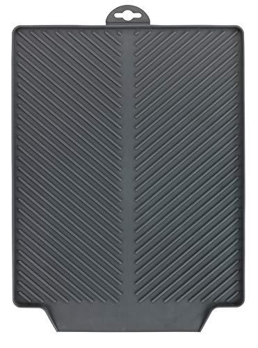 Wenko Abtropfmatte Linea Grau Trockenmatte, Spülbeckenmatte für Geschirr, Kunststoff (TPR), Maße (B x H x T): 40 x 3 x 30 cm