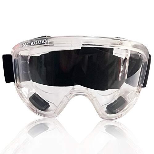 AILOVA Schutzbrille Vollsichtbrille,Elastischer Linsenkörper,Tröpfchen und Staub Vermeiden,Vollständig Geschlossene Schutzbrille