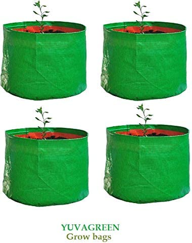 """YUVAGREEN Terrace Gardening Leafy Vegetable Green Grow Bag (15"""" X 15 """") - (Pack Of 4 ) product image"""