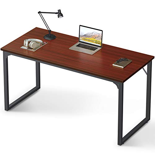 "Coleshome Computer Desk 55"", Modern Simple Style Desk for Home Office, Sturdy Writing Desk,Teak $62.99 on amazon9"