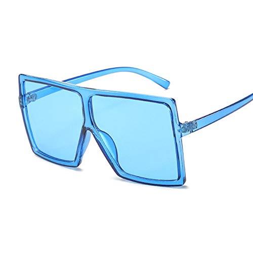 DLSM Gafas de Sol Grandes Gafas de Sol Gafas de Sol Moda Rosa Gafas de Sol Femenina Recetro Vintage Unisex Pesca al Aire Libre Equitación-Azul
