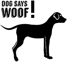 NSWAN Car Bumper Window Stickers Decals Dog Says Woof Motorcycle Decors Vinyl Full Body Home Wall car Decal and Sticker car-Styling 14X14cm 2 pcs